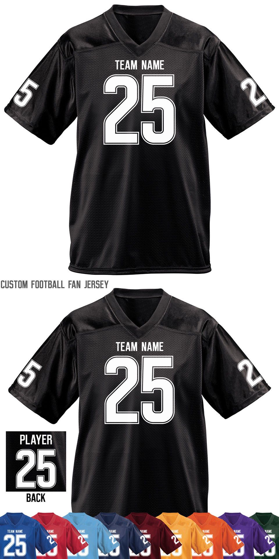 Clothing 21218  Custom Football Jersey Fan Jerseys Add Your Name And Number  Small To 5X -  BUY IT NOW ONLY   40 on eBay! 85cbfcb67