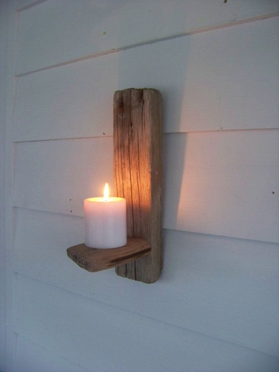 Wall Sconces Driftwood : Driftwood Candle Holder Primitive Wall Sconce by AntiquesGraveyard, USD 68.00 Driftwood Decor ...