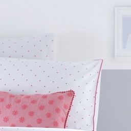 Edie Pink Pom Pom Duvet Cover and