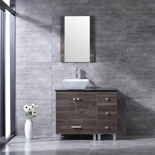 Wybolt 36 Free Standing Single Bathroom Vanity With Mirror With Images Bathroom Vanity Single Bathroom Vanity 24 Bathroom Vanity