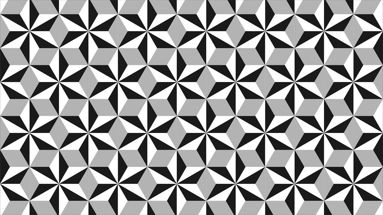 Geometric shapes design - Coreldraw Tutorials - black and white ... for Geometric Shapes Design Black And White  35fsj