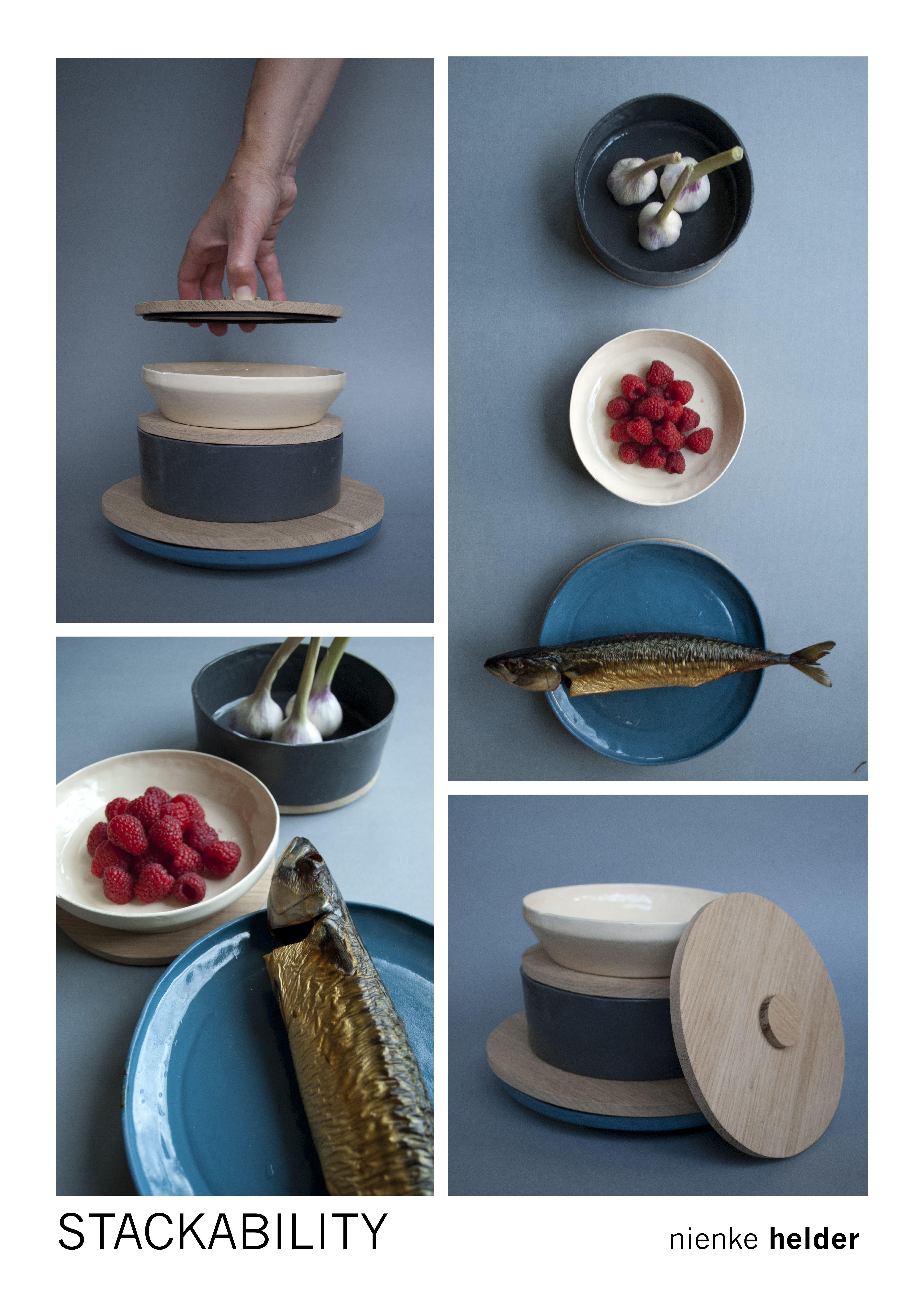 Stackable Table ware - ceramics - Nienke Helder - Stackability - Tableware design