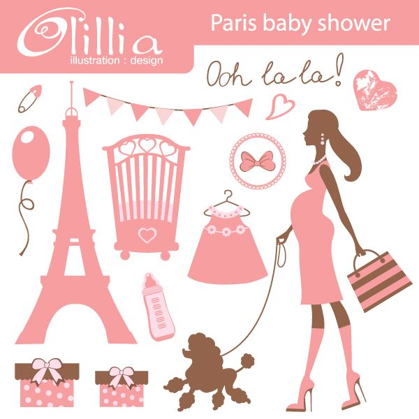 Paris baby shower - cute baby shower printables with a French ...