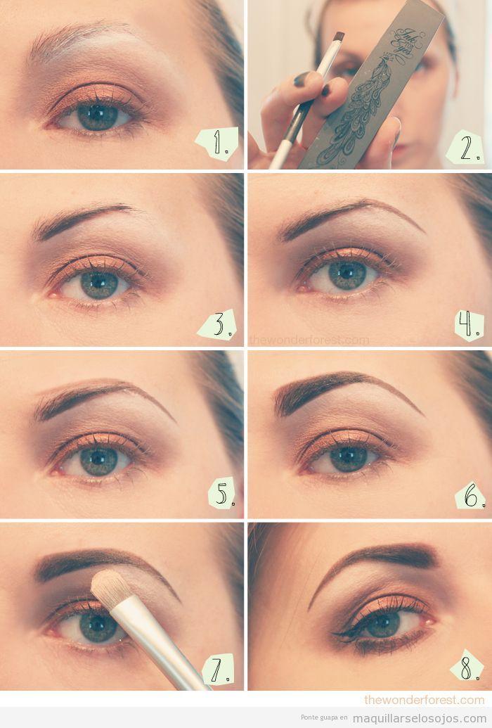 Tutorial para aprender a maquillar las cejas paso a paso - Como maquillarse paso a paso ...