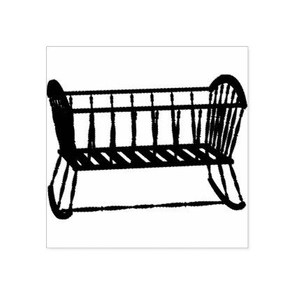 Crib Rubber Stamp Vintage Gifts Retro Ideas Cyo Cribs Outdoor Chairs Bed Bassinet