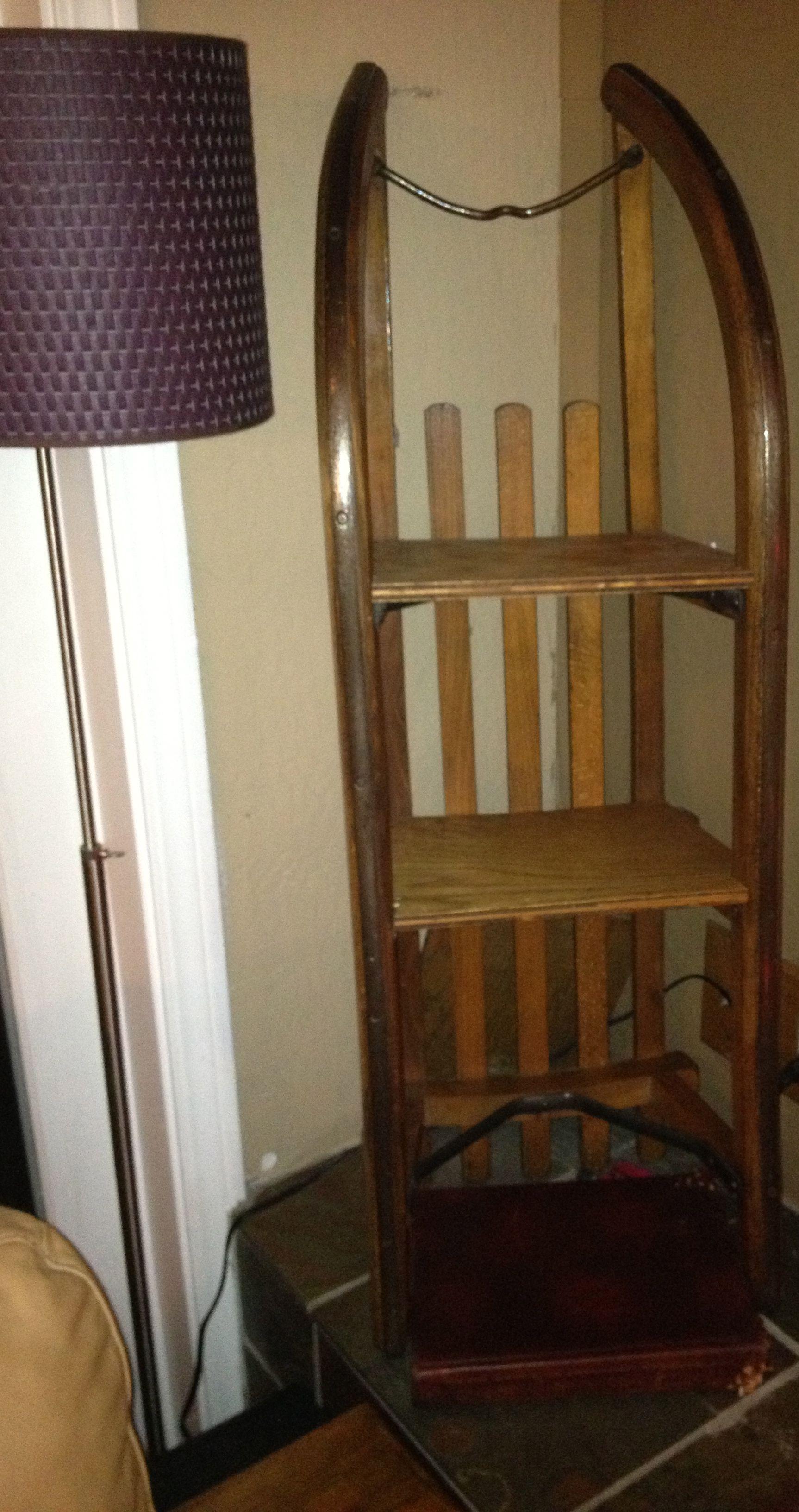 Antique Sled Shelf Unit