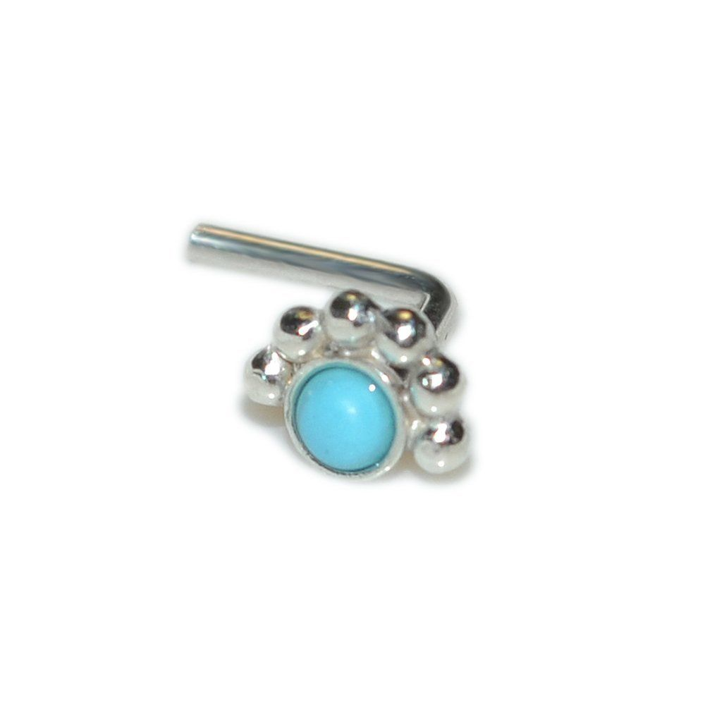 18g nose piercing  Silver Nose Stud with mm Turquoise g  Cartilage Earring Helix