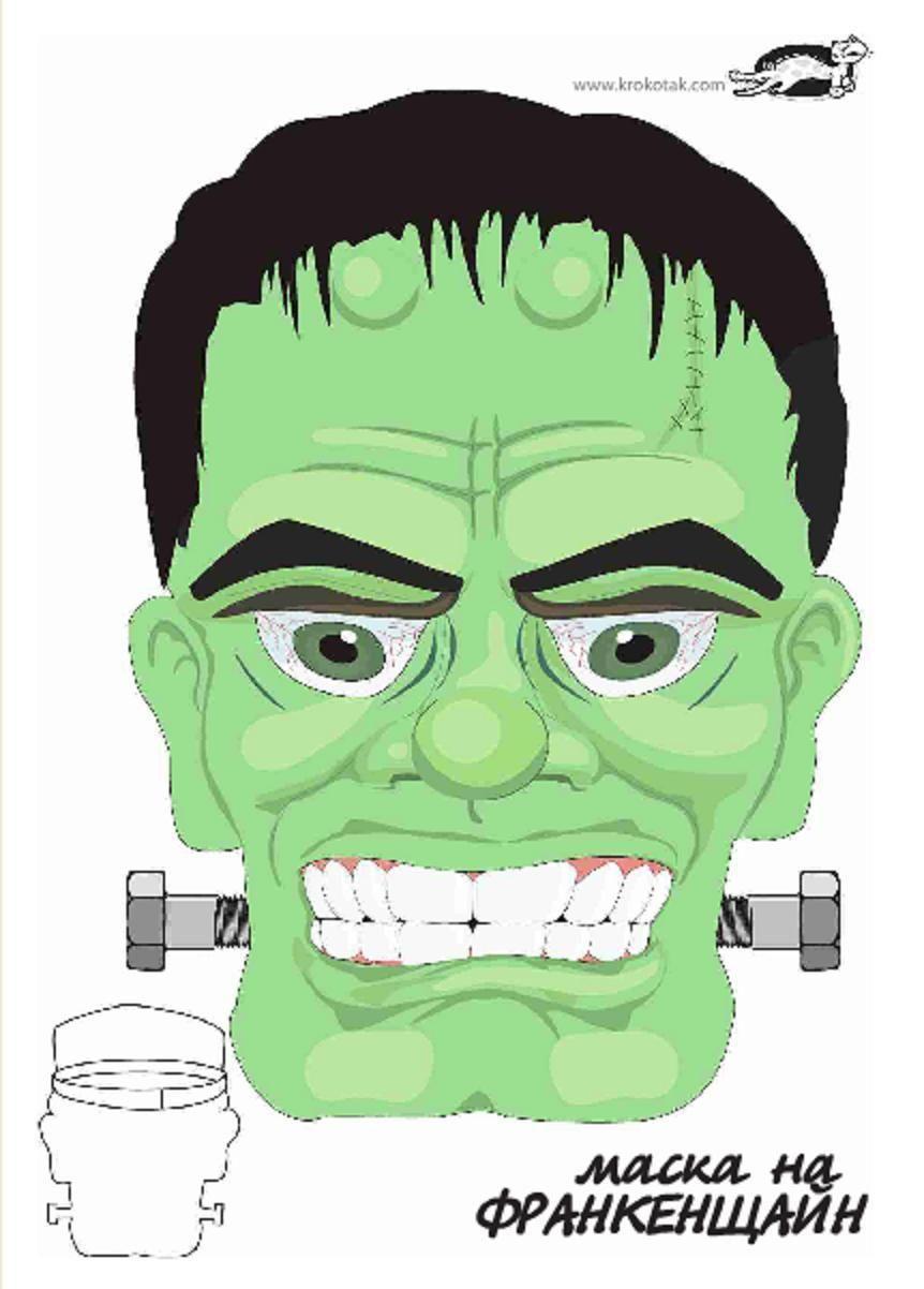 Dorable Colorear La Cabeza De Frankenstein Patrón - Enmarcado Para ...