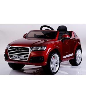 Coche Ninos Electrico 12v Audi Q7 Burdeos Metalizado Rc Coche