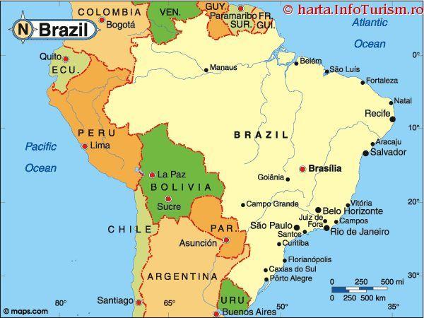 Harta Brazilia Manaus Map La Paz
