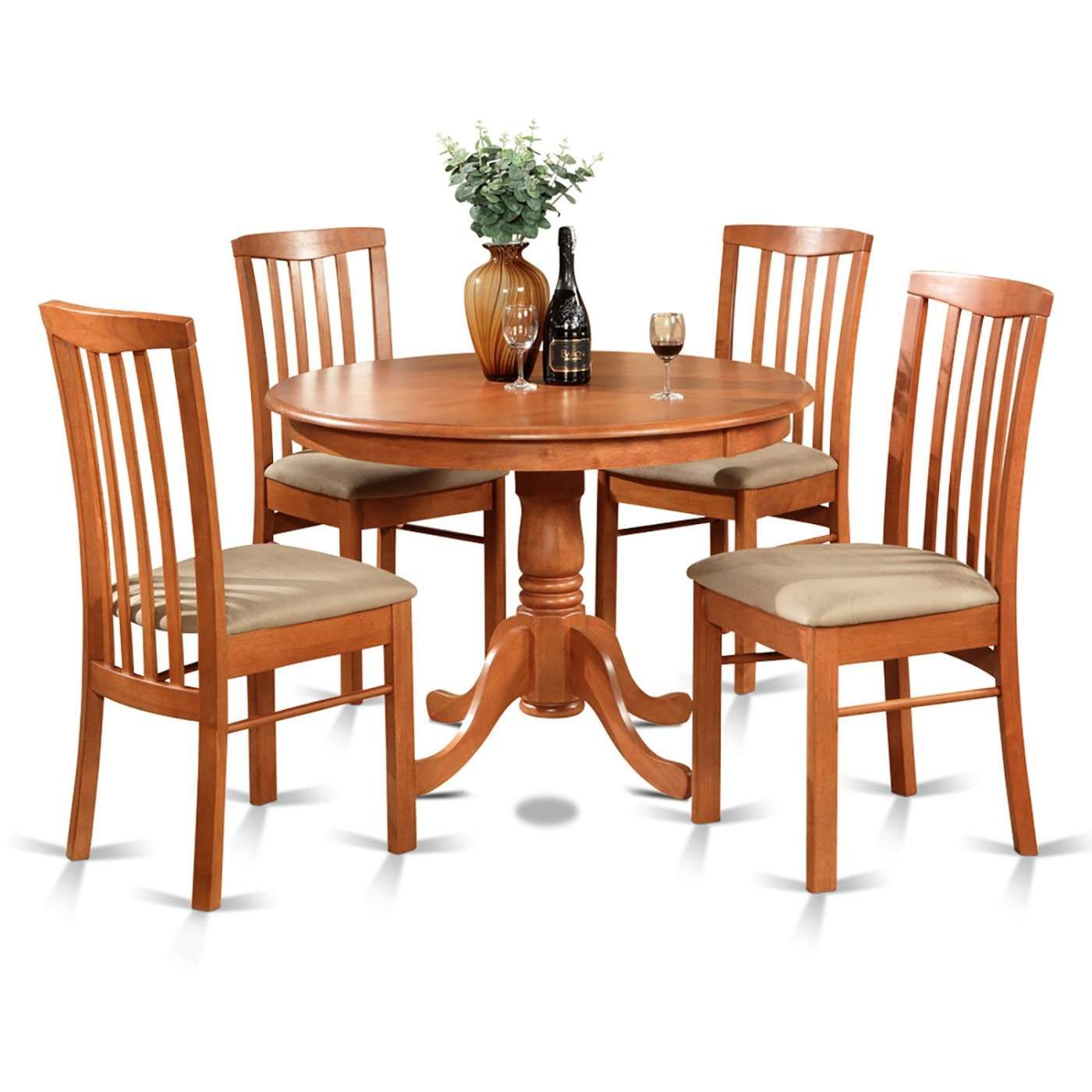 Hartland 5 Piece Kitchen Nook Dining Set  Round Table And 4 Fair Dining Room Chair Set Of 4 Decorating Inspiration