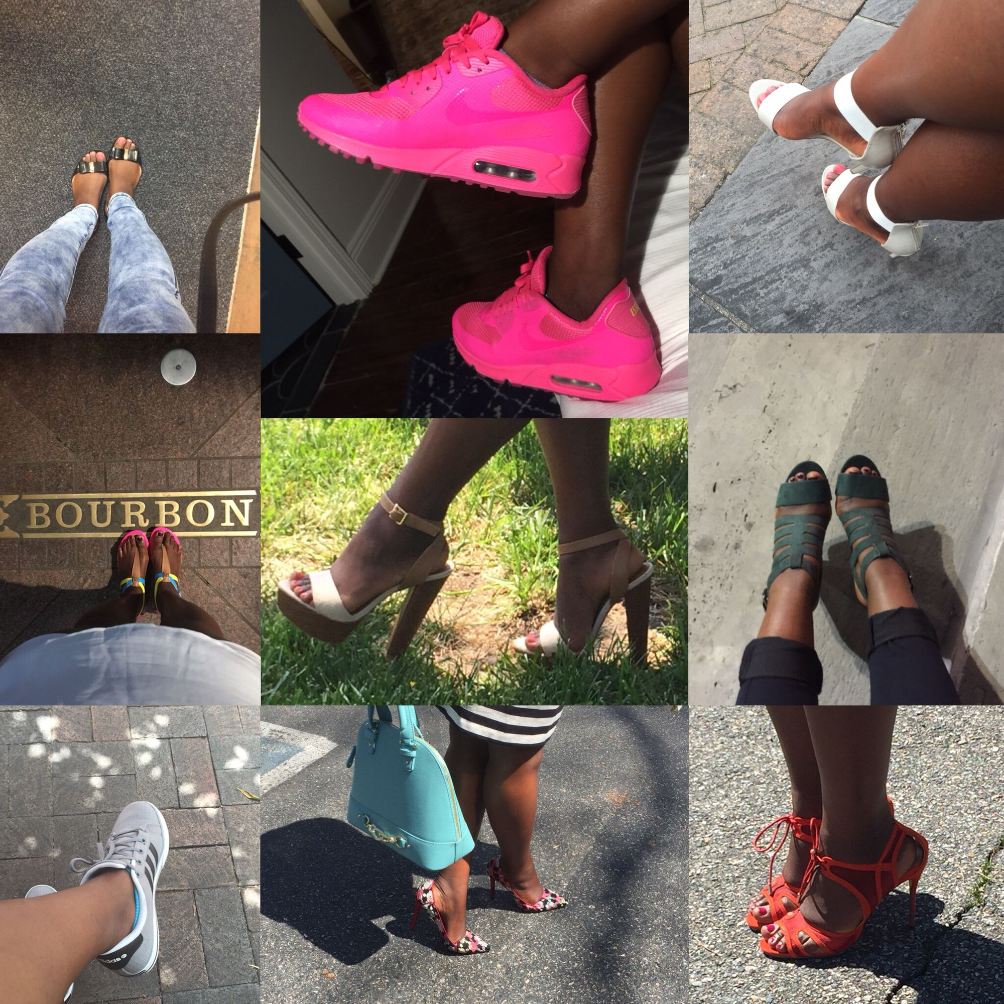 Month of May favorites! #shoeaddict #shoelover #shoedazzle#stilettosociety #ambsdr #nikeairmax90 #justfab #addidas