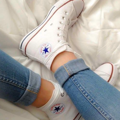 white high top converse. Really really really want these for