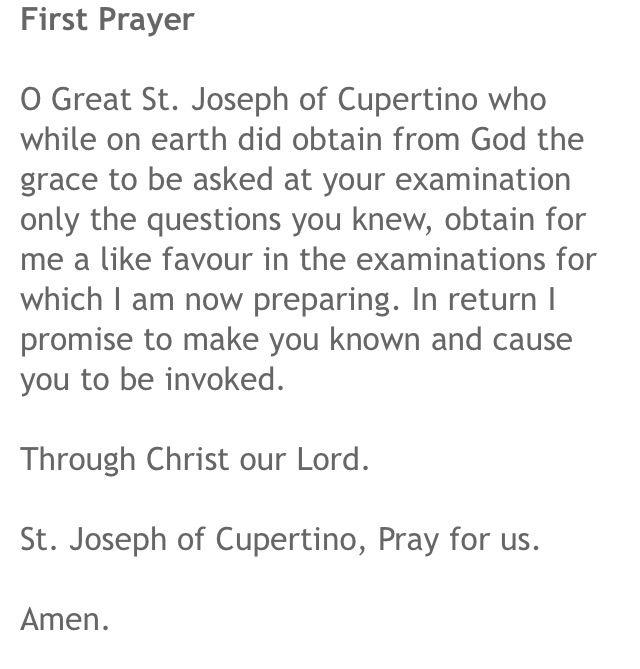 Prayer to St. Joseph Cupertino.   MedSchool motivation   Pinterest ...