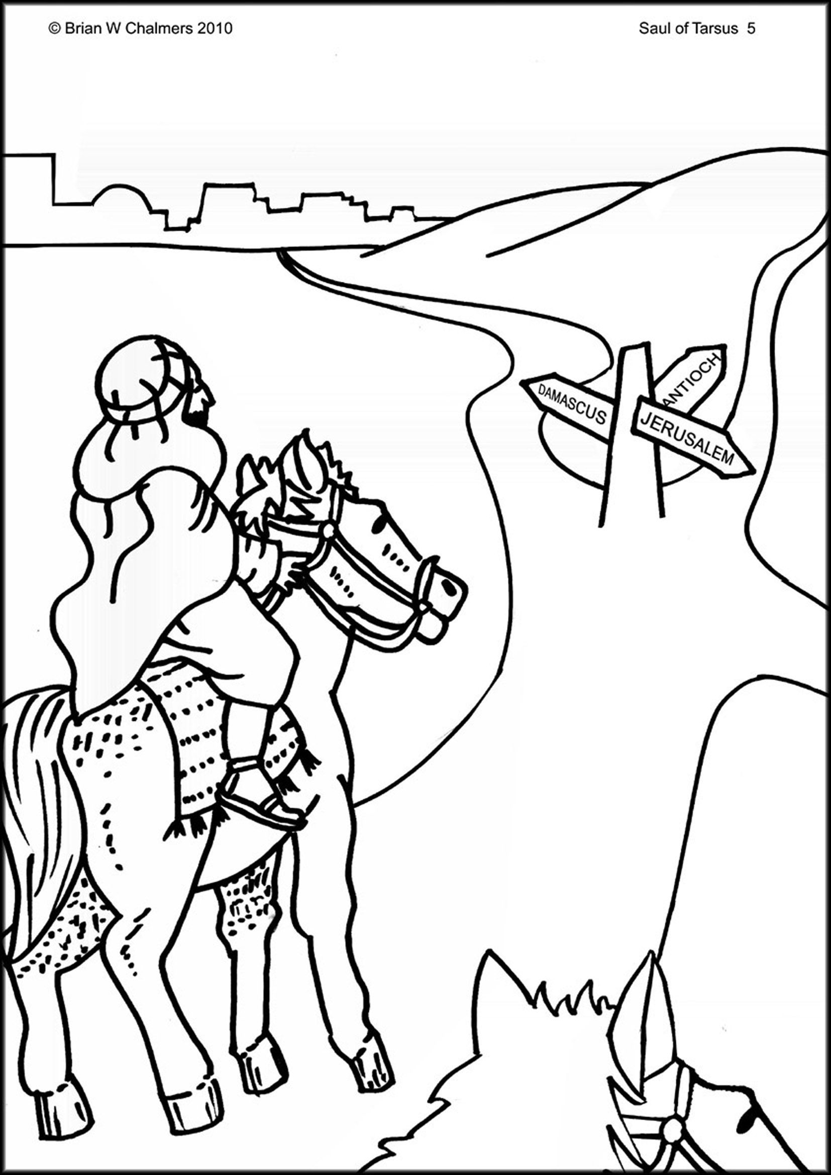 Conversion Of Saul Coloring Page Google Search Bible Coloring