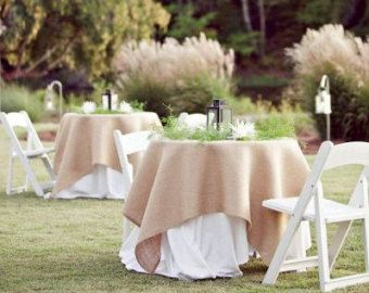 Burlap Table Overlay Jute Topper 80 X Inch Whole Tablecloths Linens