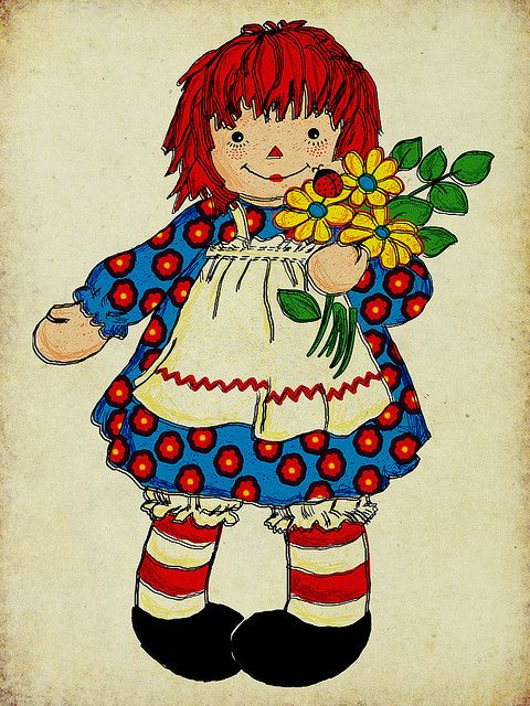 Raggedy Ann's Patterned Dress