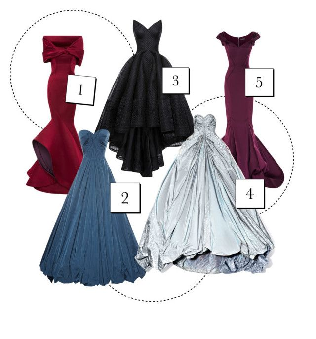 """""""Which Zac?"""" by luvchanel ❤ liked on Polyvore featuring Zac Posen, Gowns, zac and posen"""