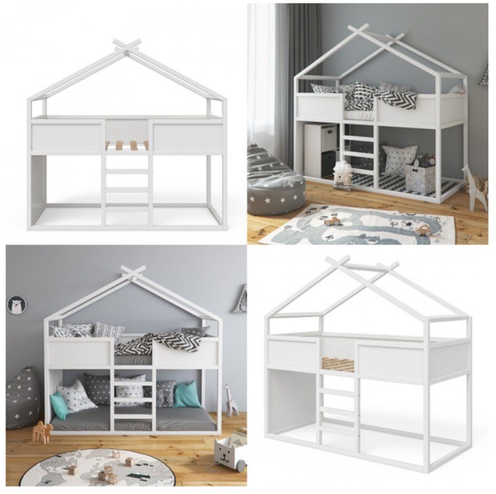 White Cabin Bed Frame in 2020 House beds for kids