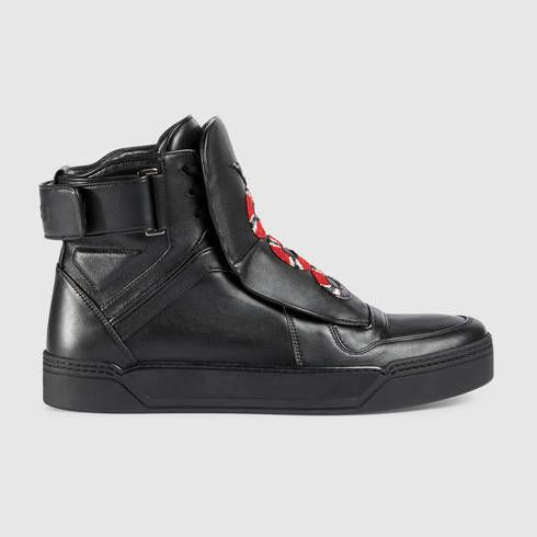 Gucci Leather High-top Sneaker With