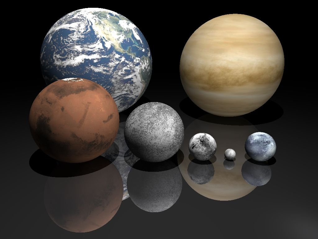 Terrestrial And Keiper Planets Wall Paper