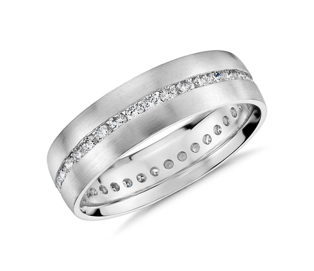 Channel Set Diamond Eternity Ring In Platinum 6mm Blue Nile Mens White Gold Rings Eternity Ring Diamond Moissanite Engagement Ring White Gold