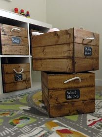 Diy wooden crates for ikea expedit bookcase dreams to for Large toy box ikea