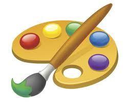 paleta z farbami | Paint brushes, Art, Art party