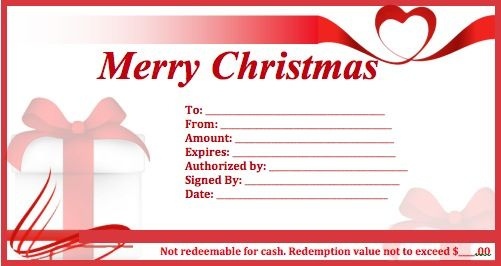 Pics Photos Christmas Gift Certificate Template For Microsoft Word Holiday  Free  Free Christmas Gift Certificate Templates