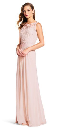 622bf424969f2 Sleeveless Tulle Gown with Sequin Scroll Embroidered Bodice