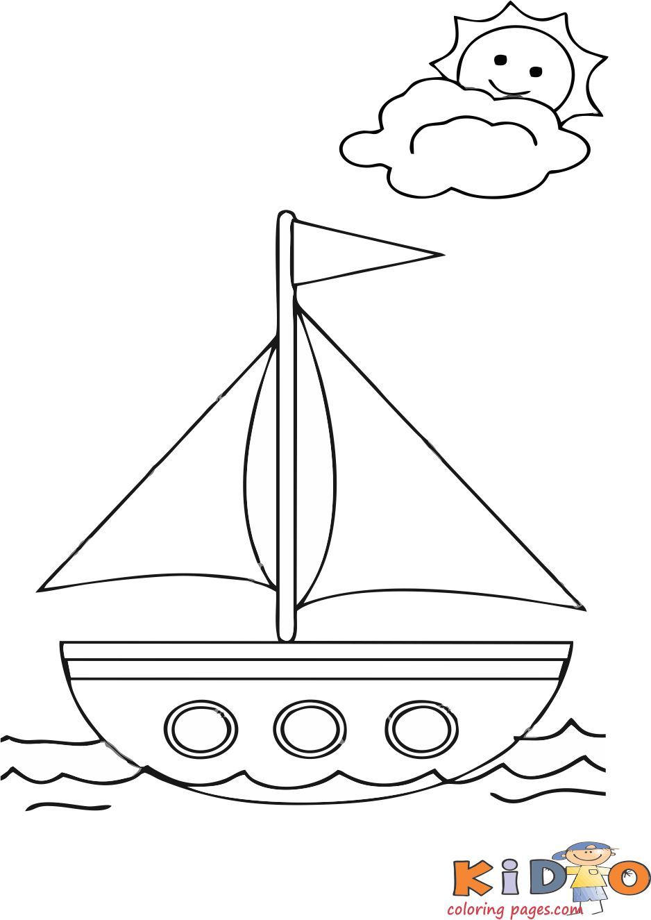 Summer Boat Coloring Pages For Kids Summer Coloring Pages Summer Coloring Sheets Coloring Pages For Kids