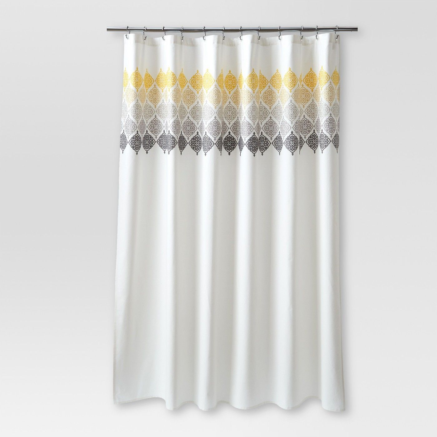 Threshold Medallion Shower Curtain Ombre Cream Bathroom In 2019
