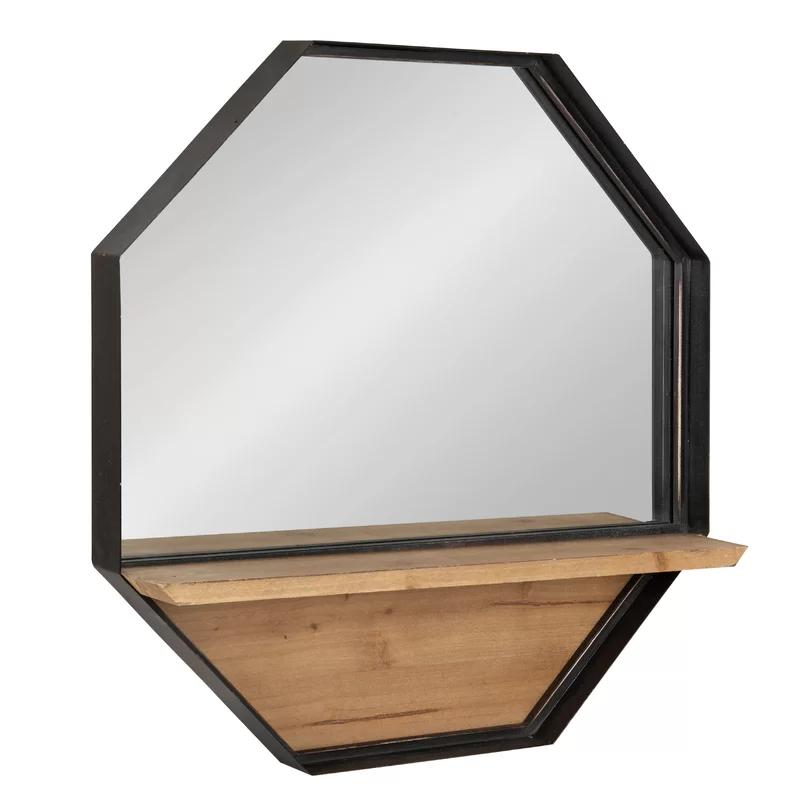 Bellavia Rustic Farmhouse Metal Octagon Beveled Frameless