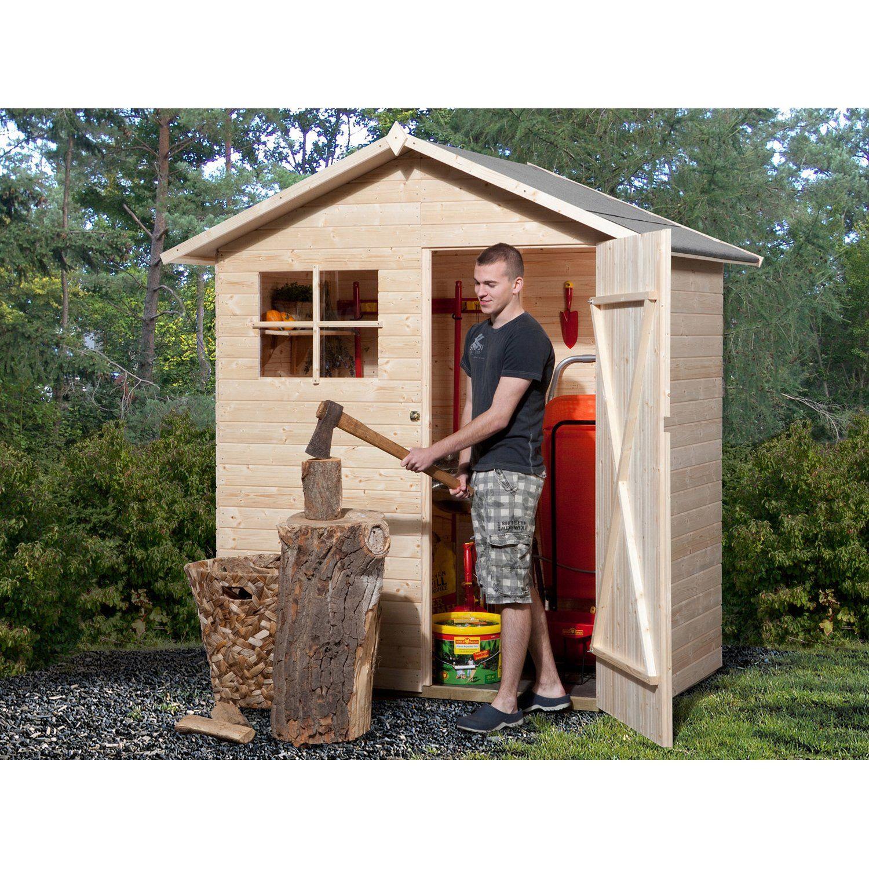 Weka Holz Gartenhaus Easy Natur Bxt 180 Cm X 100 Cm Kaufen Bei Obi Gerateschuppen Holz Gerateschuppen Gartenhaus