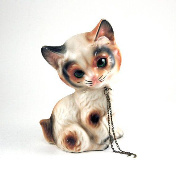 Adorable Vintage Calico Kitten Cat Figurine Cat Decor Calico Kitten Vintage Cat