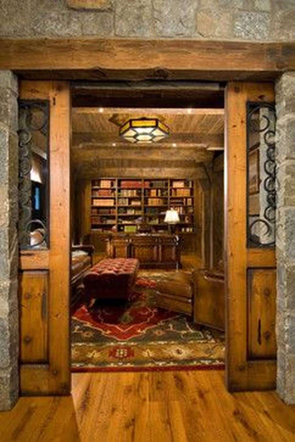 Rustic Library Den: 42 The Best Home Library Design Ideas With Rustic Style