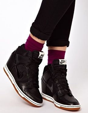 asos online shopping for the latest clothes fashion. black wedge trainersnike