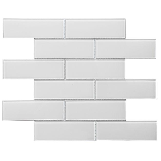 Glass Mosaic 12 X 12 10 Box Super White Mosaic Glass Super White Glass Mosaic Tiles