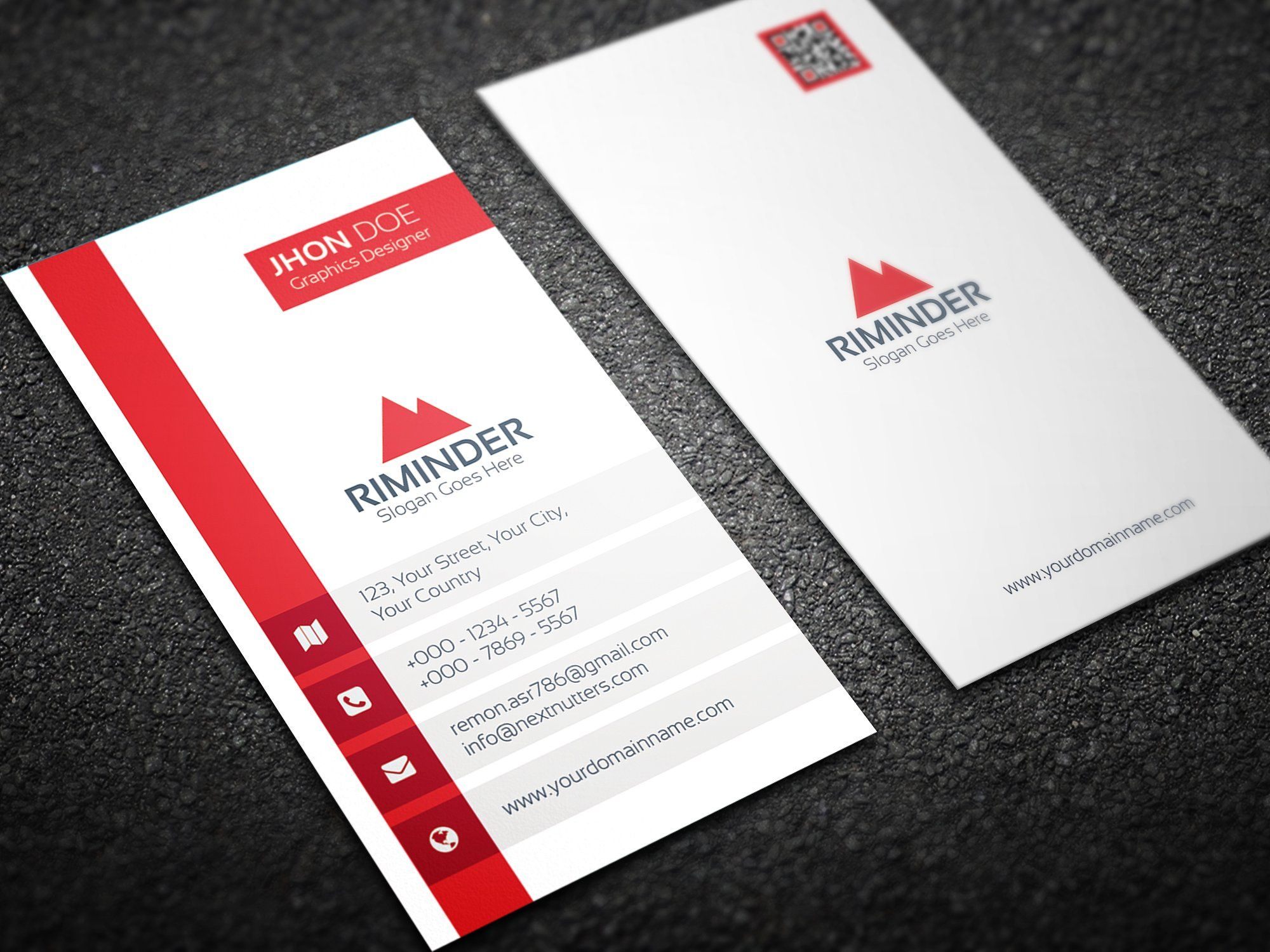 Simple Vertical Business Card Vertical Business Cards Vertical