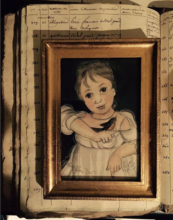 Kolene Spicher original painting of a little girl by KOLENESPICHER
