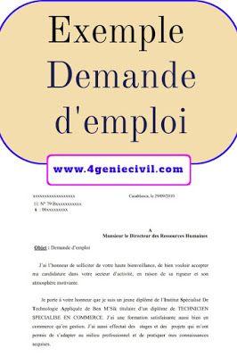 Exemple demande d'emploi pdf | Word doc, Quotes ...
