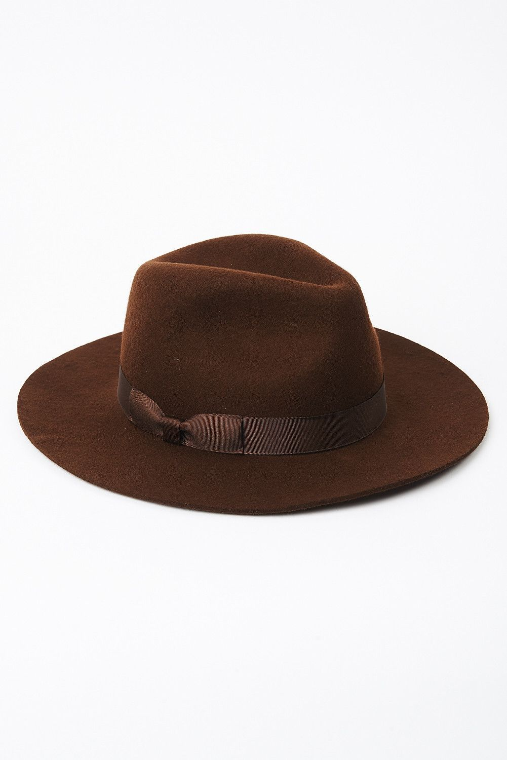 67d5efc072cca Chocolate brown structured soft wool fedora by Lack of Color ...