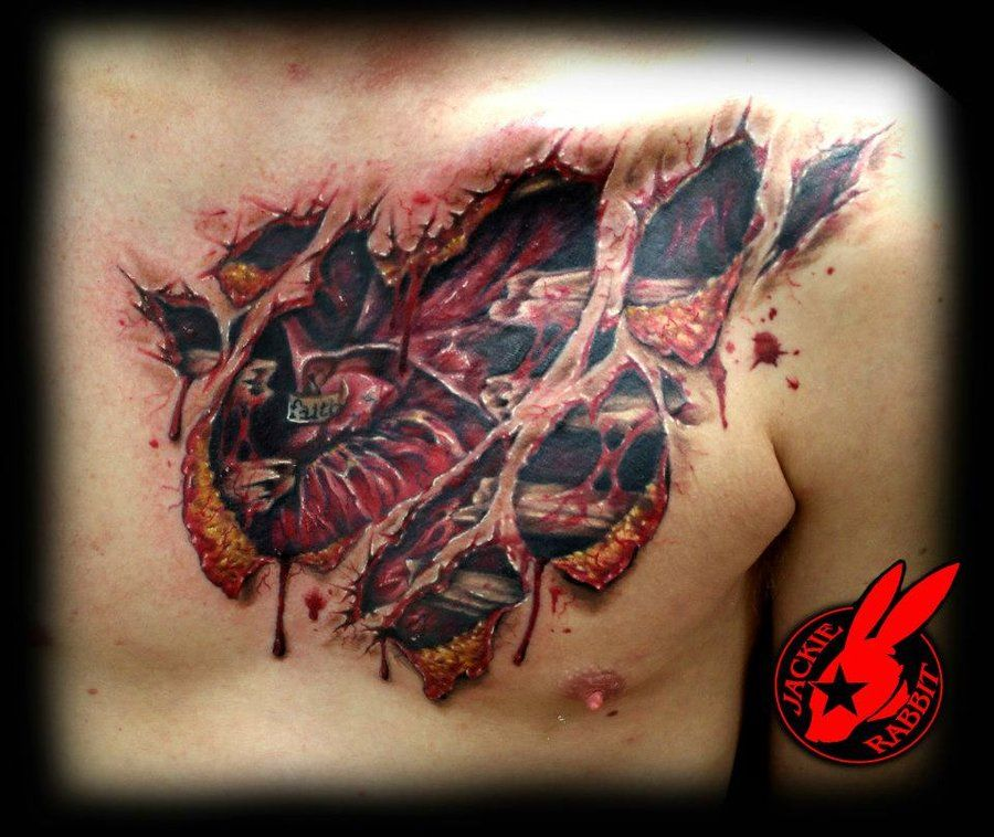 heart tear out tattoo by jackie rabbit healed by on deviantart. Black Bedroom Furniture Sets. Home Design Ideas