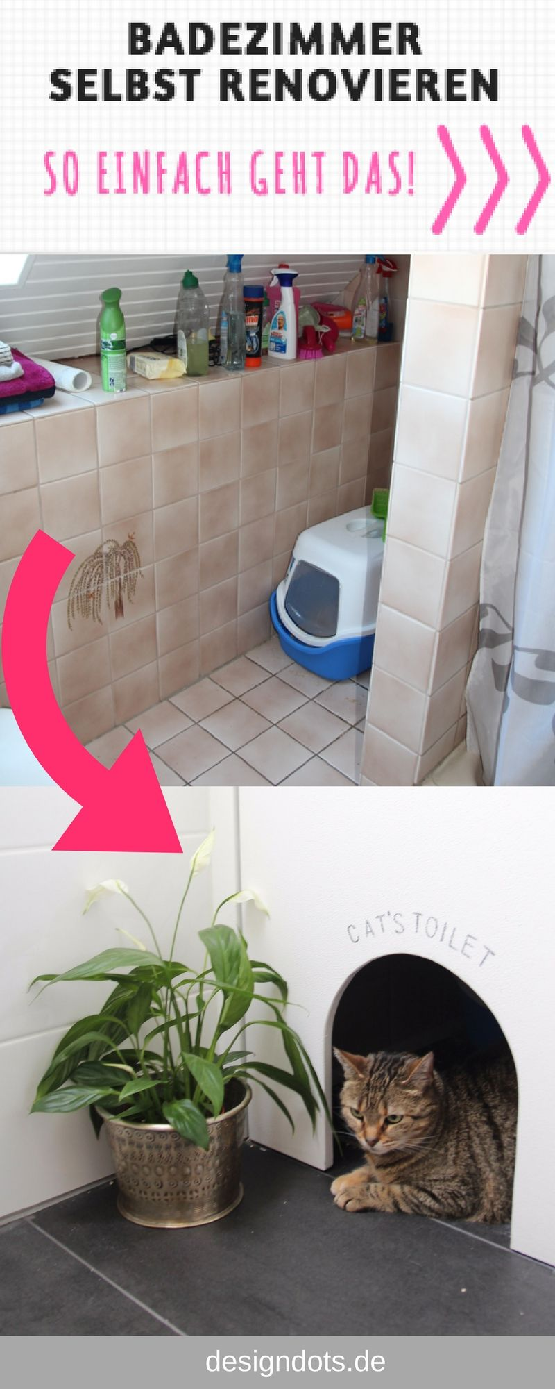 Badezimmer selbst renovieren design dots blog und zuhause pinterest badezimmer baden und - Badezimmer selbst renovieren ...