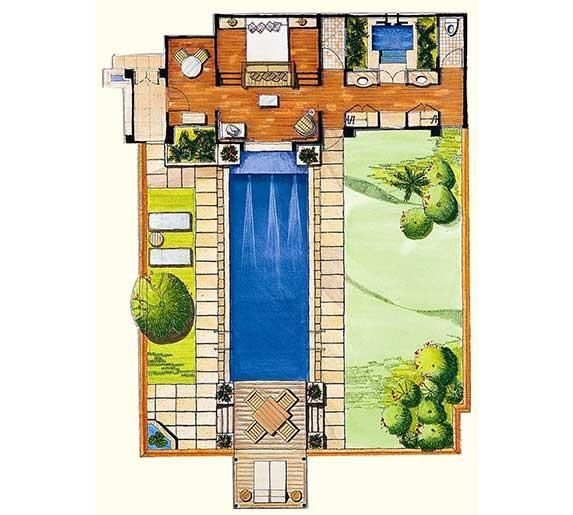 Pool Villa Floor Plan Spa Ideas Pinterest Villas