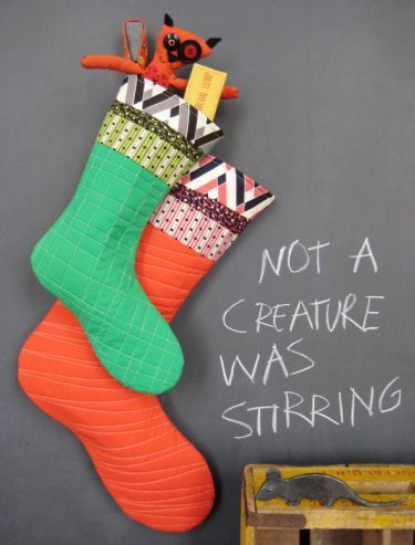 All the Trimmings Stocking || Denyse Schmidt