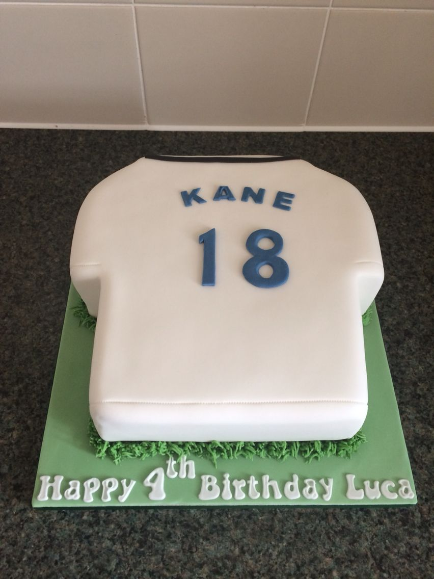 Tottenhamspurs Football Shirt Birthday Cake Tottenham Hot Spurs