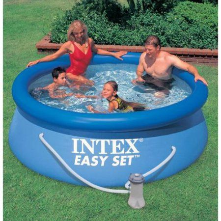 Intex 8 X 30 Easy Set Swimming Pool 330 Gph Gfci Filter Pump 28111eh Portable Swimming Pools Easy Set Pools Prefabricated Swimming Pool