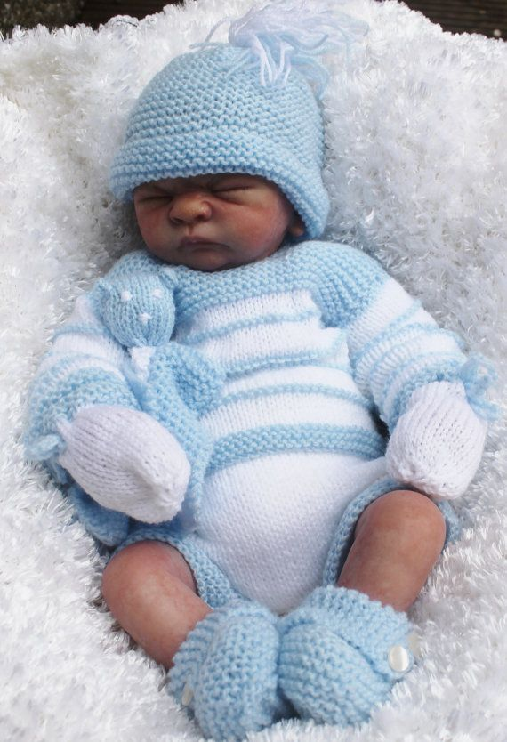 996c7695a8b KNITTING PATTERN baby or reborn for sweater pants booties hat mitts toy  18 22 in reborn 2 sizes dk