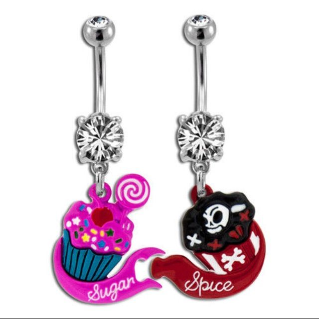 Sugar Spice Matching Belly Button Rings Belly Button Rings